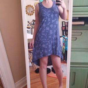 NWOT Periwinkle Abstract Hi-Lo Gentlefawn Dress